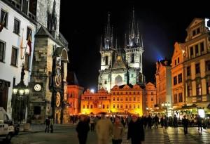 Прага.Староместская площадь. Тынский храм.