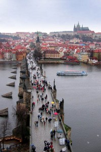 Прага.Карлов мост через Влтаву.