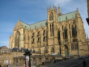 Кафедральный собор в городе Мец