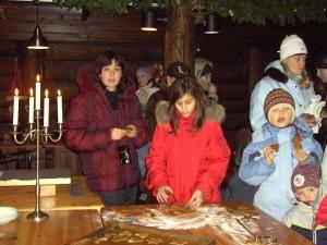 Деревня Кухмо. В домике Деда Мороза.